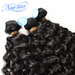 Wholesale Italian Curl Weave - Wholesale-new star hair six stars high quality Peruvian virgin hair extensions Italy curl Italian tight wave curly hair3bundles mixed pack