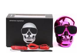 Canada HOT Portable Crâne Bluetooth Haut-parleurs Crâne Tête Fantôme Sans Fil Stéréo Subwoofer Mega Bass 3D Stéréo Lecteur Audio Main Libre Mini Haut-Parleur cheap mp3 player skull Offre