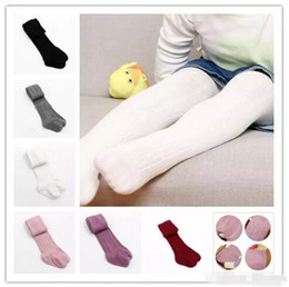 Wholesale Cute Infant Tights - Baby Girls braids Jacquard Pantyhose Ins hot Babyighs Infants Cotton Tights Kids Cute leggings stocking 6colors B11