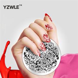 Wholesale Fashion Design Stencils - Wholesale- YZWLE 1 Piece Fashion Round Flower Design Nail Art Image Stamp Stamping Plates Manicure Template DIY Polish Stencil Nail Tools