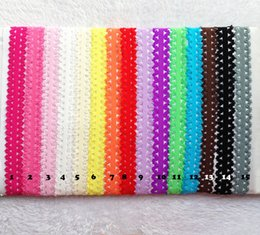 Wholesale Headband Elastic For Baby - 2 cm Lace elastic baby kids hair band hot sell 14 color for you choose elastic baby kids hair band