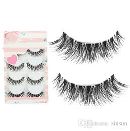 5156f812931 5 Pairs set Black Cross False Eyelash Soft Long Makeup Eye Lash Extension  wholesale price free shipping