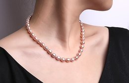 """Wholesale Imitation Lavender - FREE SHIPPING>>Women 7-8mm Oval Lavender Cultured Freshwater Pearl Necklace Jewelry JYX 18"""""""