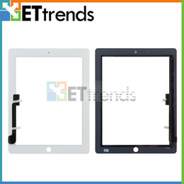 Wholesale One Touch Pc - 50 pcs for iPad 3 4 Touch Screen Pannel Touch Only Glasstop Tested One by One DHL Free Shipping