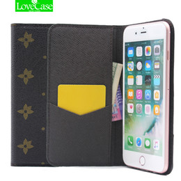 Wholesale Iphone Case Folio Pink - For iphone 7 Retro Style PU Leather Flip Phone Case for Apple iPhone 7 7 plus ultrathin Wallet Style Luxury Folio Case Cover