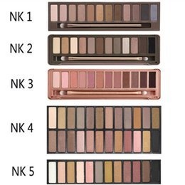 Wholesale Cheap Professional Brushes - New Cheap Naked 12color Professional Makeup Eyeshadow Naked Palette 1 2 3 4 5 Naked Cosmetic Makeup Brush Smoky Eye Shadow Case Makeup Set