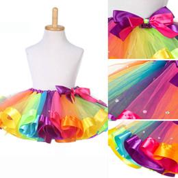 Wholesale Toddler Girls Fluffy Skirts - Baby Toddler Girls Fluffy Rainbow Tutu Skirt Costume Party Dancewear Photo Prop