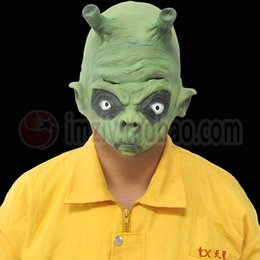 Wholesale Dragon Head Costume - Halloween Party Latex Mask Realistic UFO Alien Head Mask Latex Creepy Costume Party Cosplay Scary Movie Dragon Ball Mask Fancy costume