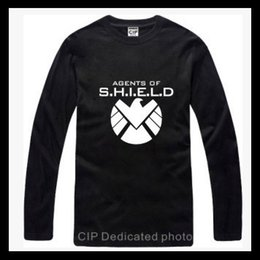Wholesale Printed Season Tshirt - Tshirt I Feel Like SHIELD Kanye West Season 3 Clothing long sleeve t shirt brand hiphop neck tshirt homme sportswear fashion Captain America