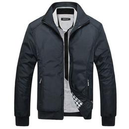 Wholesale Cheap New Coats - Wholesale- Free Shipping 2017 New Cheap Mens Jackets Solid Color Men's Outwear Jacket Designer Stylish Men Coats Hot Sale Wholesale