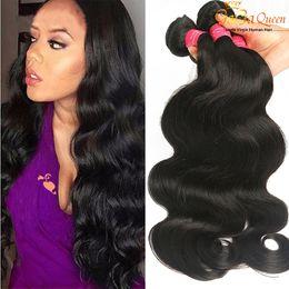 Wholesale Brazilian Body Wave 3pcs - Mink Brazilian Body Wave Virgin Hair Wefts 3Pcs Virgin Brazilian Body Wave Hair Bundles Human Hair Extensions Natural Color No Shedding