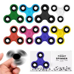 Wholesale Best Price For Adult Toys - Best Wholesale Price Three Leaves Triangle Plastic Metal Tri Fidget Spinner Hand Spinners Handspinner Toy For Kids Adults Decompression Toys