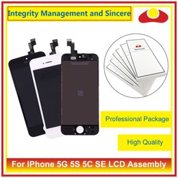 Wholesale Iphone 5g Screen Digitizer - High Quality For iPhone 5 5G 5C 5S SE Full Lcd Display Touch Screen Digitizer Sensor Panel Assembly Complete White Black+Tracking