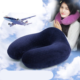 Wholesale U Shaped Seating - New memory U shape pillow travel pillow upgrade memory foam pillow massager slow rebound memory sponge zero press Cervical