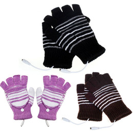 Wholesale Heat Finger - Wholesale- 1Pair 5V USB Powered Heating Heated Winter Hand Warmer Gloves Washable Plug and Play Outdoor For Snow Play