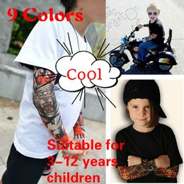 Wholesale Red Mosquitos - Limited Edition Child Arm Sleeve-Sun Tattoo Sleeve Summer Mosquito Sting Blue-And-White European And American Fashion Cool Arm