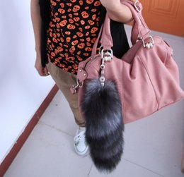 Wholesale Men Sexy Photos - Wholesale silver fox tail hanging bag sexy dance props fur fox's tail pendant jewelry tail