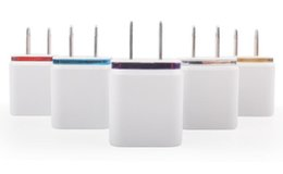 Wholesale ipad wall chargers - Wall Chargers 5V 2A EU US Plug USB Charger For Ipad Iphone 7 6 5 4 Samsung LG HTC SONY
