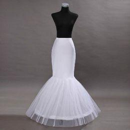 Jupon sirène de mariée en Ligne-Robes de mariée sirène blanche jupon de mariée sirène Crinoline jupon trompette jupon soirée de bal Bustles taille libre