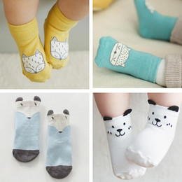 Wholesale Yellow Clothes For Baby Boy - fashion socks for baby Baby Kids Clothing girls boys socks pink cat fox yellow 17 color Wholesale 1091