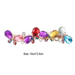 Wholesale Free Dragonfly - Free Shipping Elegant Women Deciate Crystal Butterfly Dragonfly Hairpins Hair Clip Barrette women Hairgrips Accessories Wholesale