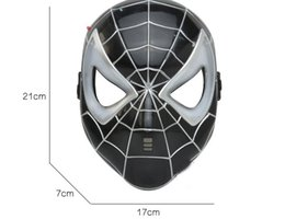 Wholesale Superman Mask Kids - Black spiderman mask children's animation cartoon superman glow with lamp Gags & Practical Jokes Show the toy