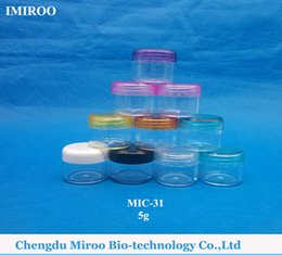 Wholesale Mini Plastic Jars Free Shipping - Wholesale- Free shipping 50PCS 5g Plastic PP Jar Containers, Small Nail Art Cans,MINI Cream Jar