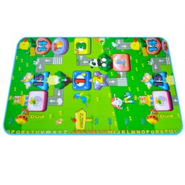 Wholesale Eva Puzzle Carpet - 110*70 Play mat Puzzle for Children eva foam rug Picnic carpet toy for kids developing Beach Seat cushion Camping mats PT712