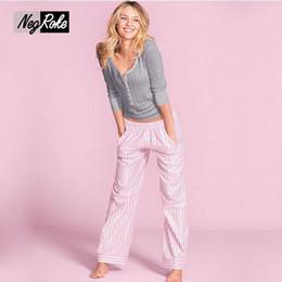 Wholesale Sleepwear Pajamas For Women - Pajamas sets for women sleepwear pijamas mujer Hot sale Spring 100% cotton simple Long sleeve casual pyjamas women V-neck