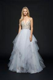 Wholesale Designer Crystal Wedding Gowns Sweetheart - Luxury Designer Wedding Dresses Spaghetti Beaded Embroidery Bodice Bridal Gown 2017 Ivory Satin Wedding Dress Hot Sale