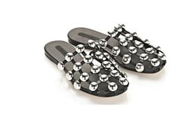 Wholesale Caged Heels - 2017 Woman Fashion Slippers Bling Studded Caged Slide Sandals Metal Decoration Rivets Hollow Luxury Design Brand Flats