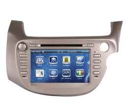 Wholesale Fit Tv Screen - 2Din Car DVD Player GPS Navigation for Honda Fit   Jazz 2007-2013 with Navigator Radio Bluetooth USB SD AUX Audio Video Stereo