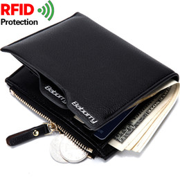 Wholesale 2017 New Men s Wallet Anti Radio Frequency Identification Card Pack Short Section Wallets Manufacturers