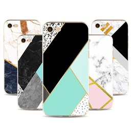 Wholesale Clear Marbles - phone shell marble painted phone shell relief soft shell TPU creative art mobile phone sets for iphone 5S 6S 7 Plus case DHL free shipping