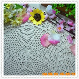 """Wholesale Lace Coasters - Wholesale- 14"""" round doilies 2016 wholesale china latest products cotton crochet lace coaster for wedding decoration cutout flower for home"""