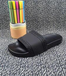 Wholesale Indoor Men Slipper - (Dust Bags+ Box)Men Designer Slipper Man Slipper Sandal Mens Medusa Slippers 2016 Summer Beach Sandals Free shipping size 36-45