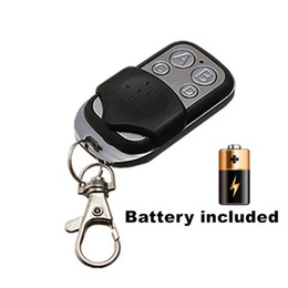 Wholesale Door Key Code - Wholesale- 433 mhz RF Remote Control Copy code cloning Electric gate duplicator Key Fob learning garage door controller included Battery