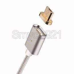 Wholesale Galaxy Goophone - magnetic cable braided nylon USB cable magnetic micro usb Cable High Speed Charging adapter For Samsung Galaxy Xiaomi Lenovo goophone