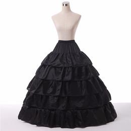 Wholesale Cheap Black Bridal Petticoat - Free shipping black ball gown Bridal petticoat 5 layers black weddingPetticoats in stock cheap red wedding petticoat
