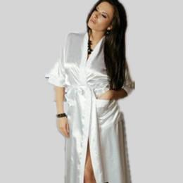 Wholesale Women Erotic Nightwear - Wholesale- Sexy Erotic Woman Robes Long Sleeve Nightwear Sashes Deep V Neck Sleepwear Ankle-length Nightgown Colorful Fashion