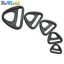 Wholesale clip backpack - 50pcs lot Plastic Adjuster with bar Swivel Clip D-Ring Loop Insert Buckle Backpack Straps