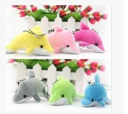 Wholesale Doll Phone Charms - Wholesale-Toys-Dolphin Small Pendant Soft Toy British Aristocrat Figure Doll Plush Smooth Obedient Dolphin Toys Phone Charm Strap Lanyard