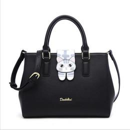 Wholesale Zipper Top Korean - 2017 New Korean Fashion handbag for women single shoulder bag catty top handle bags famous brand designer leather bags