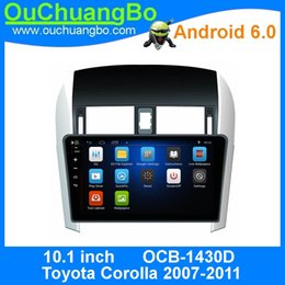 Wholesale Toyota Gps Radio System - Ouchuangbo car audio gps navi for Toyota Corolla 2007-2011 support HD Touch screen 3G WIFI android 6.0 system