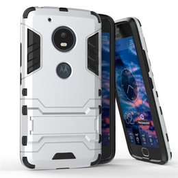 Wholesale E3 Case - Shockproof Phone Cases For Motorola G5 Plus M E3 Z Force Vector Max G4 Play X Play Plus Hybrid Kickstand Drop Resistance Case