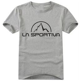 Wholesale T Shirts Wholesale Famous Brands - Wholesale- 2016 Summer Famous Tee Brand La Sportiva T Shirt Cotton O-Neck T-shirts Women&Men Top Casual Fashion Tee Shirt T-F11510