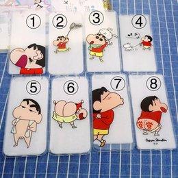 Wholesale Iphone5 Case Super - Japan Super Cute Cartoon Funny Crayon Shin Chan Ultrathin Transparent Soft TPU Case Cover For IPhone5 5S SE 6 6S 6Plus