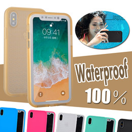 Wholesale Iphone 5s Body - 100% Sealed Waterproof Diving Underwater Full Body Coverage Screen Protector Soft TPU Cover Case For iPhone X 8 7 Plus 6 6S 5 5S Samsung S7