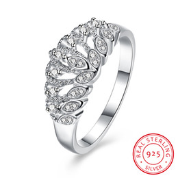 Wholesale Wholesale Jewelry 925 Usa - USA size African groove pave setting 925 silver ring decoration three stone ring women wedding ring sets for woman Jewelry
