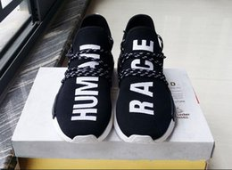 Wholesale Highest Human - 2017 high Quality Pharrell Williams NMD HUMAN RACE Shoes In Yellow white red blue green black grey eur 36-44